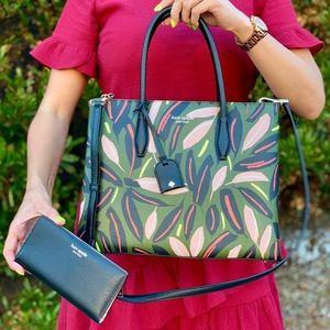 Kate Spade MD Top Zip Leather Satchel Wallet Set